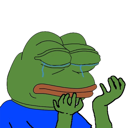 Crying pepe png. Ice is turning into