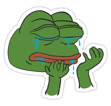 Crying pepe png. The frog phone stickers