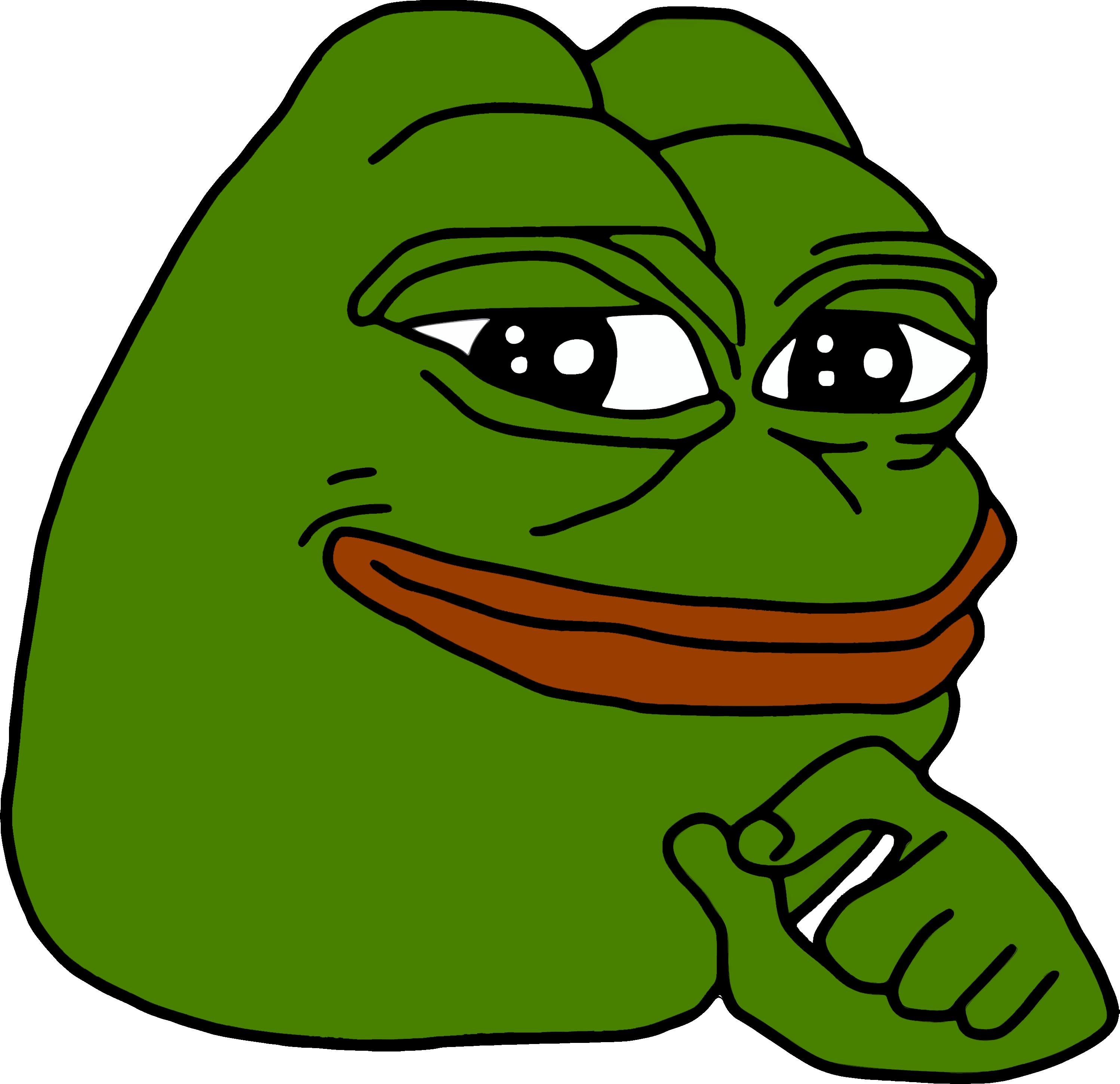 Crying pepe png. The frog meme clip