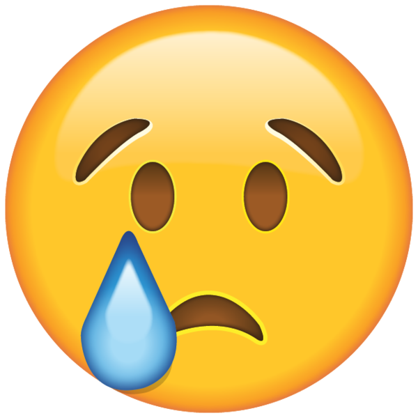 Crying smiley emoji png. When the tears start