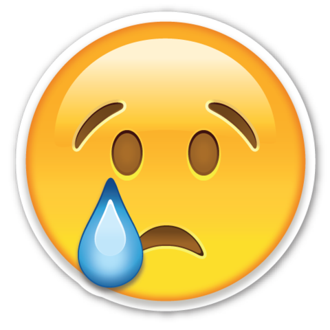 Crying smiley png. Face pinterest emoji stickers