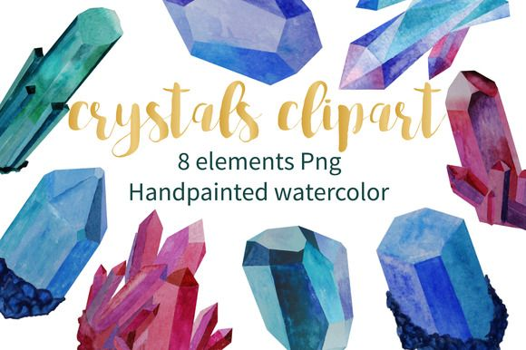 Crystal clipart amethyst crystal. Best watercolor images