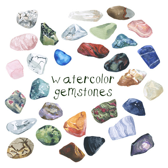 crystal clipart rock mineral