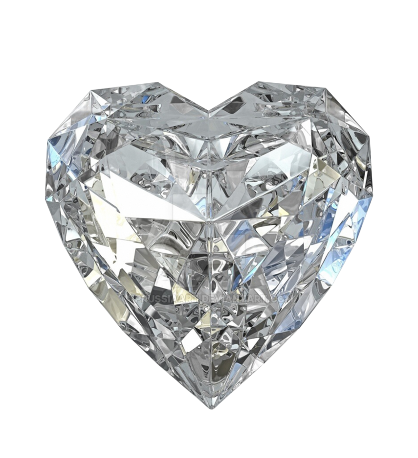 Glass heart png. Of a crystal form