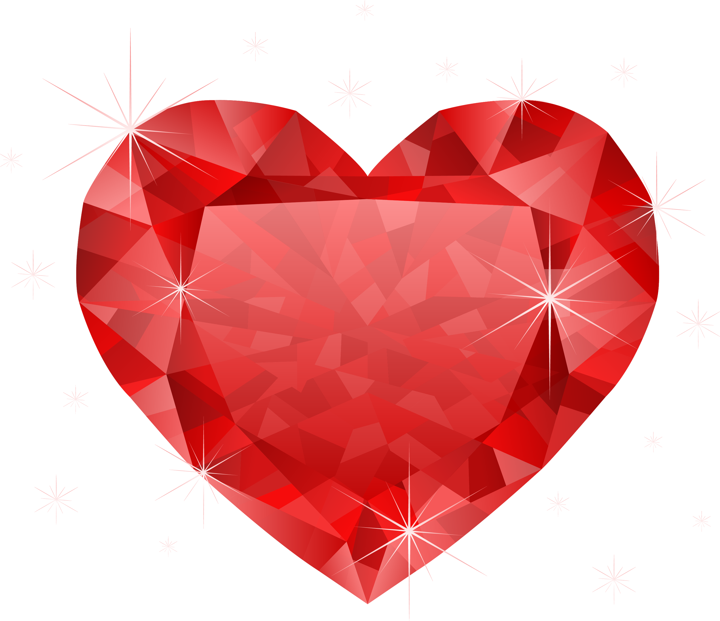 Diamond heart png. Large transparent red clipart