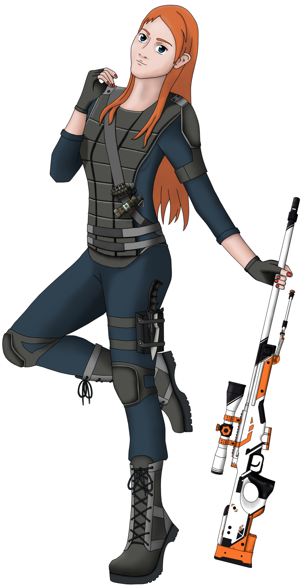 Female oc by parodyrex. Cs go counter terrorist png png free download