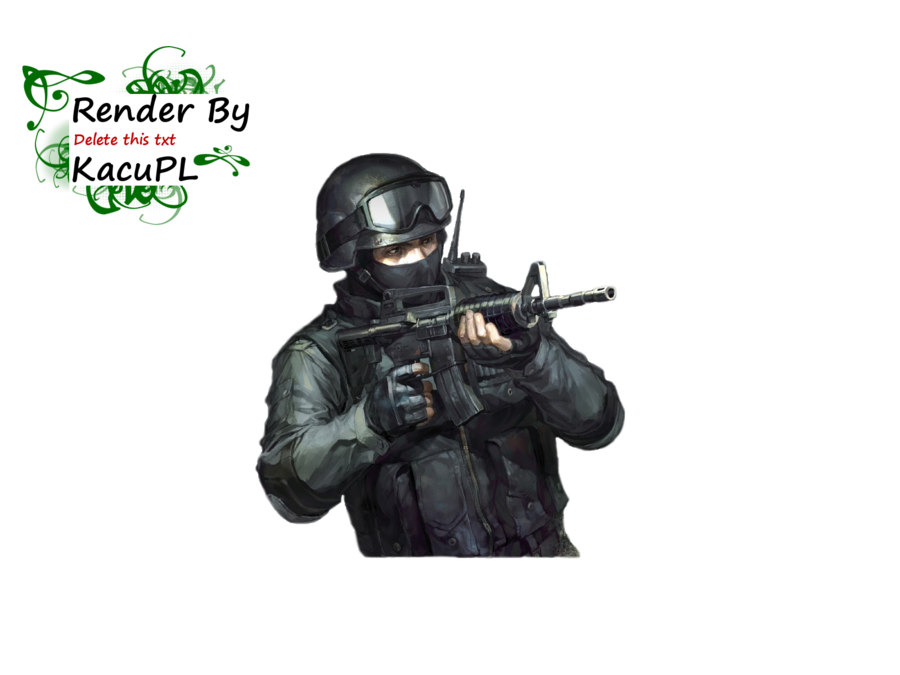 Strike online render by. Cs go counter terrorist png vector black and white library