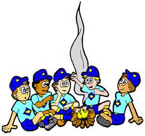 Cub scout clipart campfire. Pencil and in color