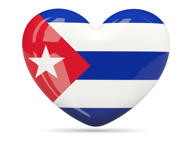 Cuba flag png. Heart icon illustration of