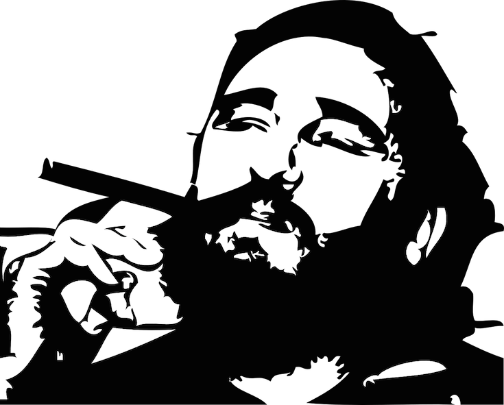 Cuba vector black and white. Is ahead of the
