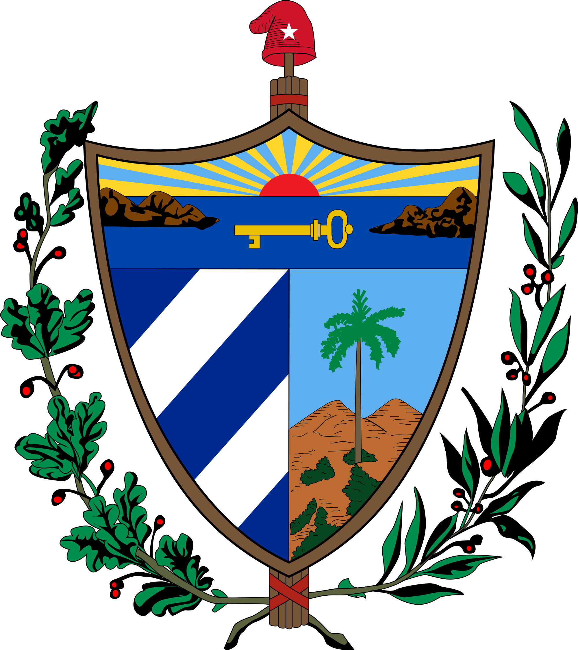 Cuba vector element. The great seal of
