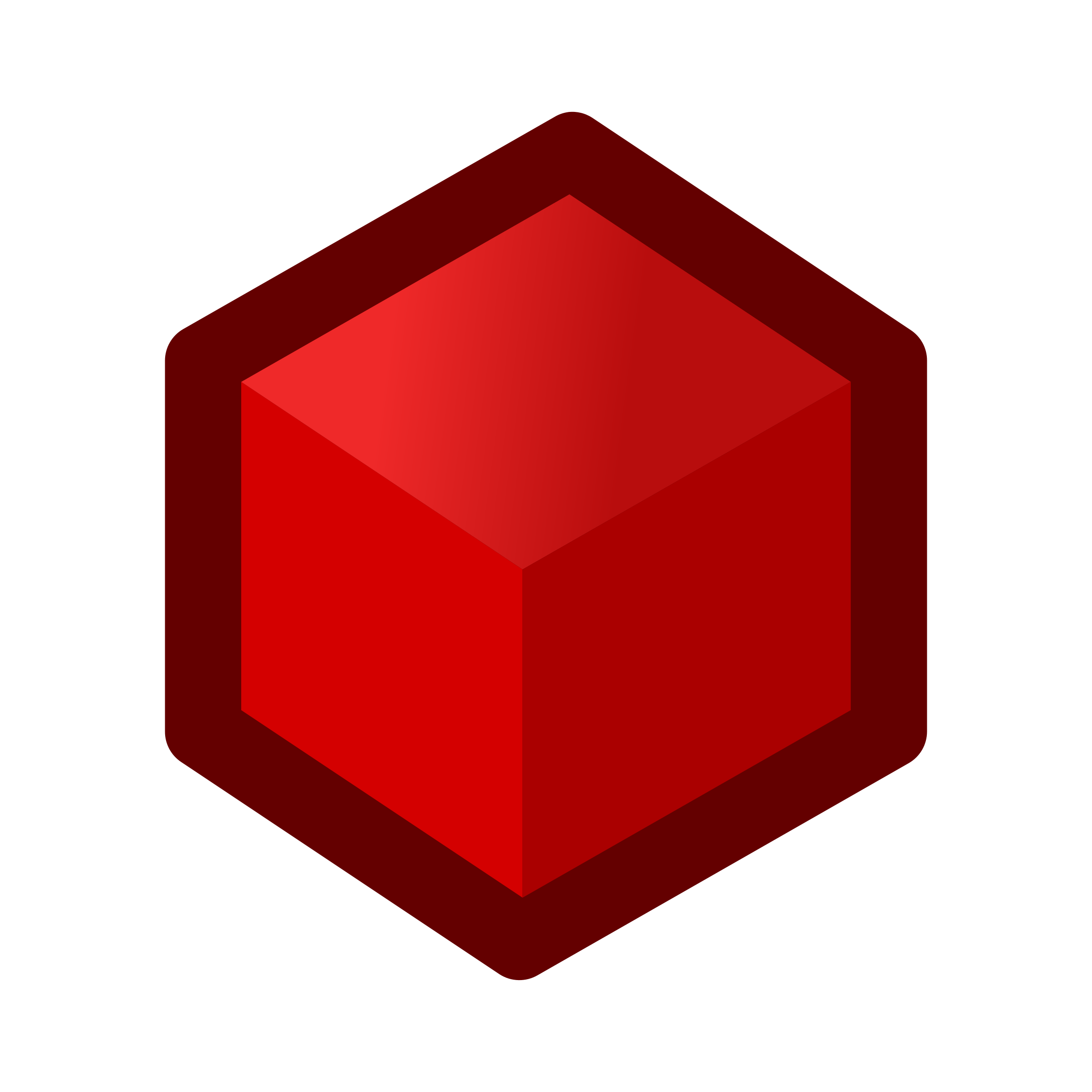 Cube clip red. Icon icons png free