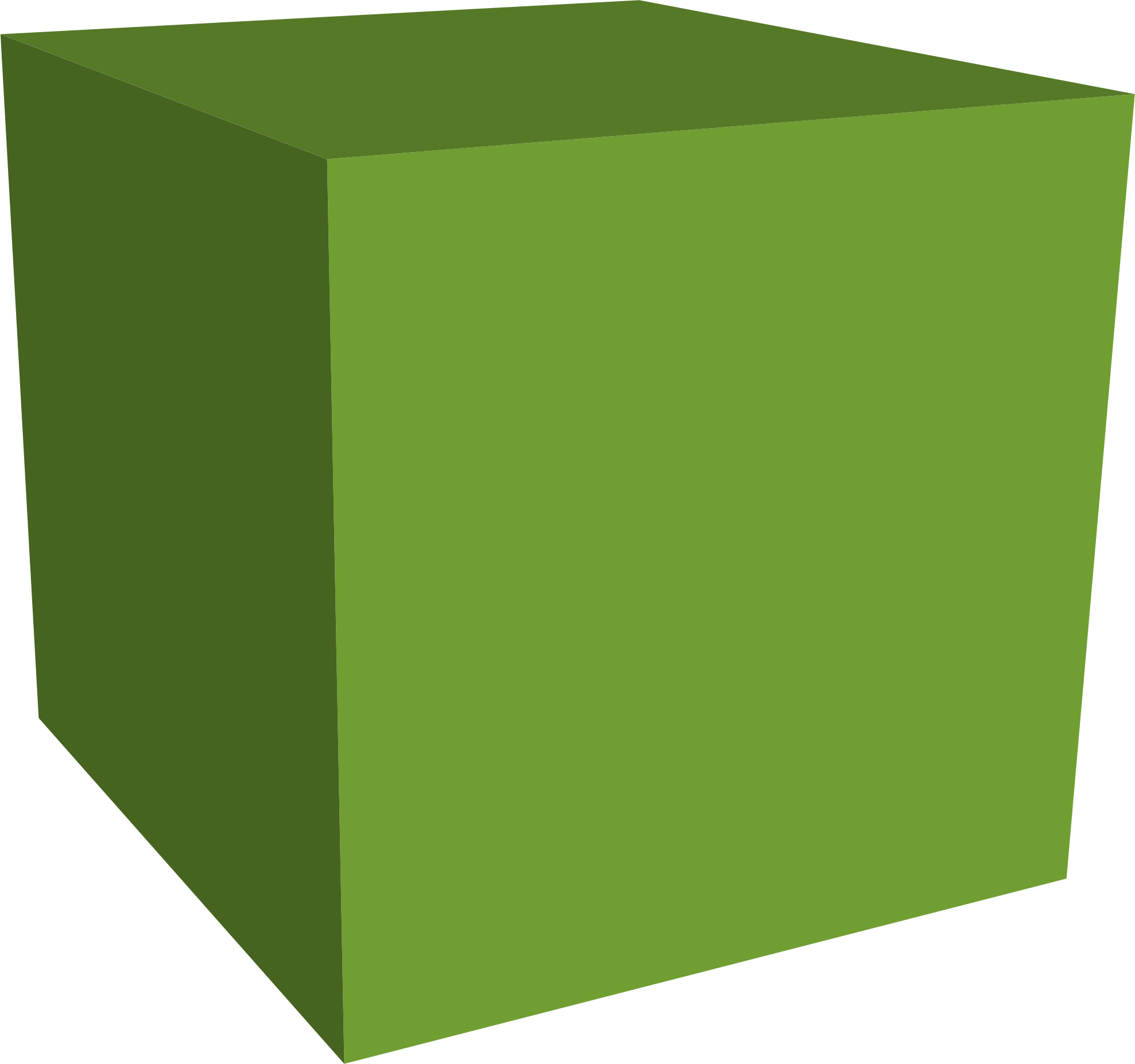 Green cube png. Clipart big image