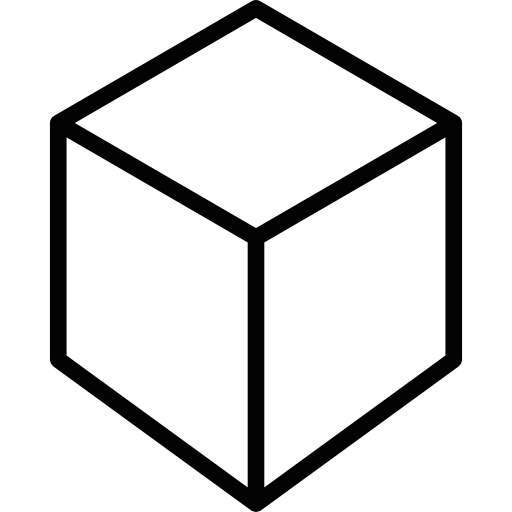 Cubes vector mathematics. Outline of a cube