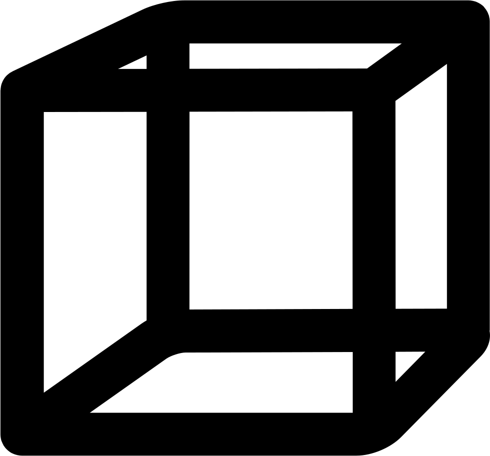 Cube outline png. Svg icon free download