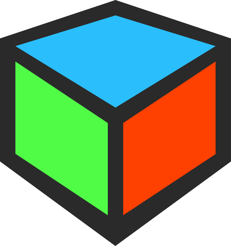 Cubes vector blank. Collection of free cubing