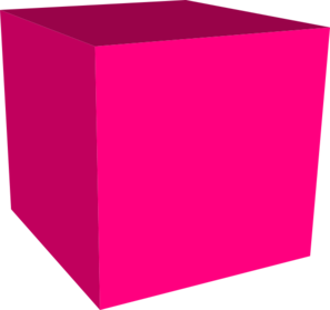 Cubes vector red. Cube clipart d box