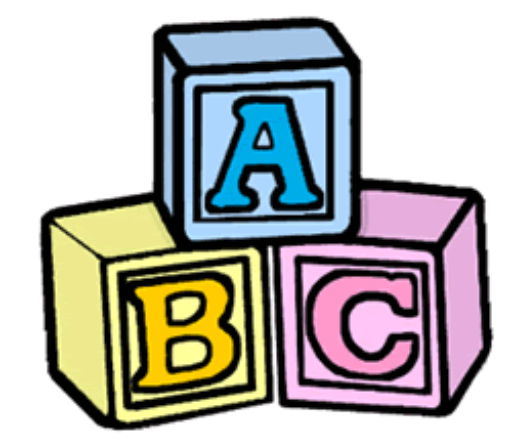 Transparent block abc. Collection of free babied