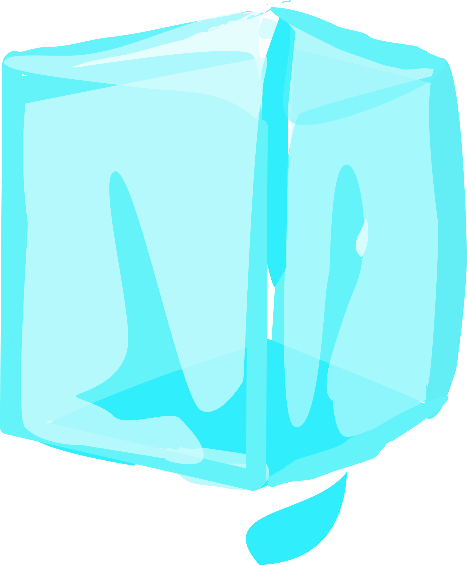Cubes vector crystal. Ice cube library