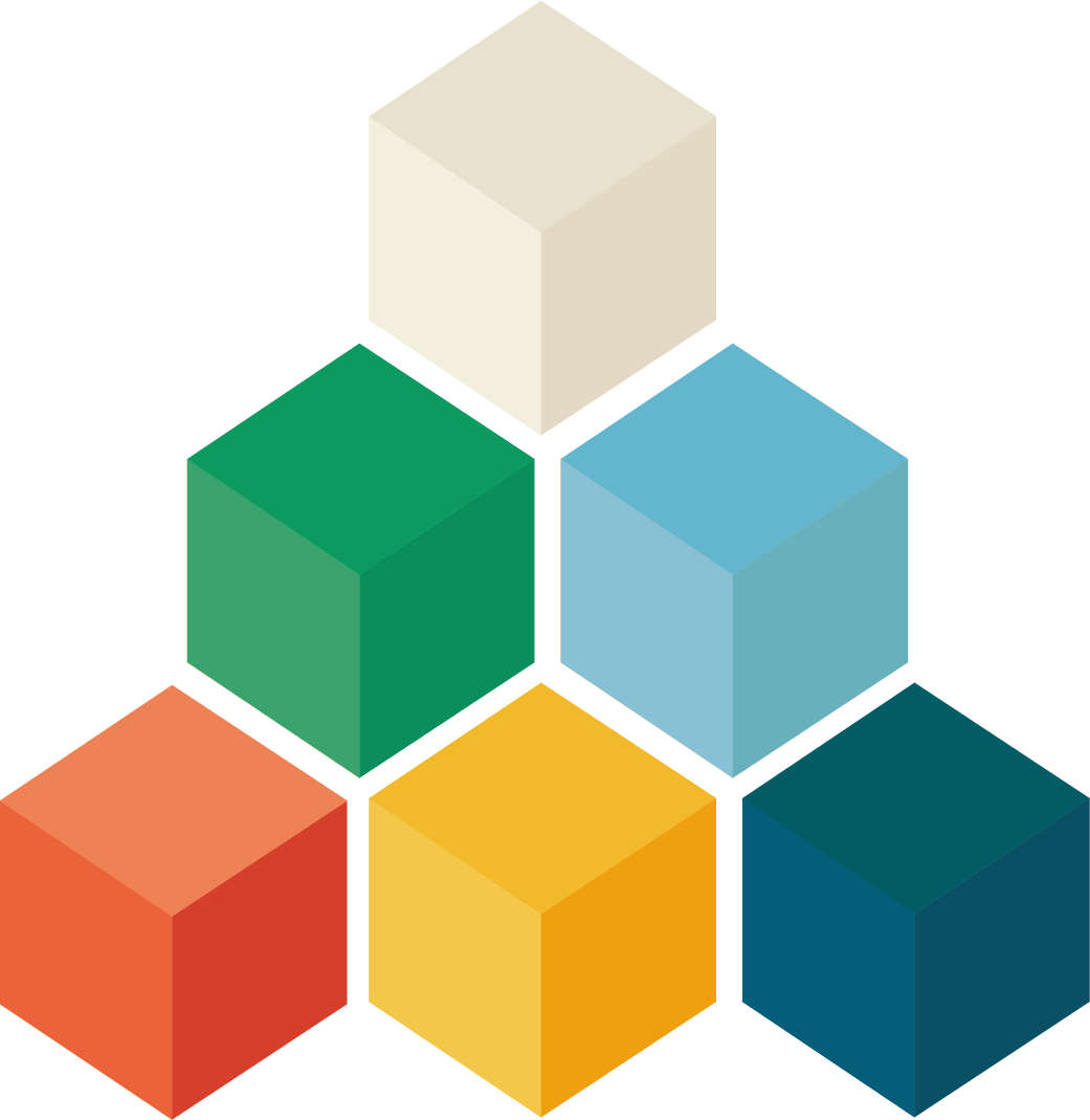 Powerpoint vector geometry. Stack cubes cube android