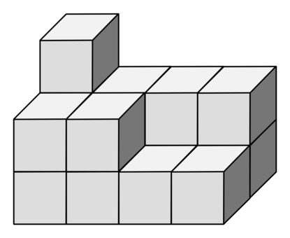 Cubes vector impossible. Construction cube box volume