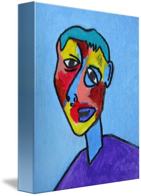 Cubism drawing. Abstract face by gary