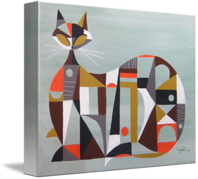 Cubist cat by c. Cubism drawing image freeuse