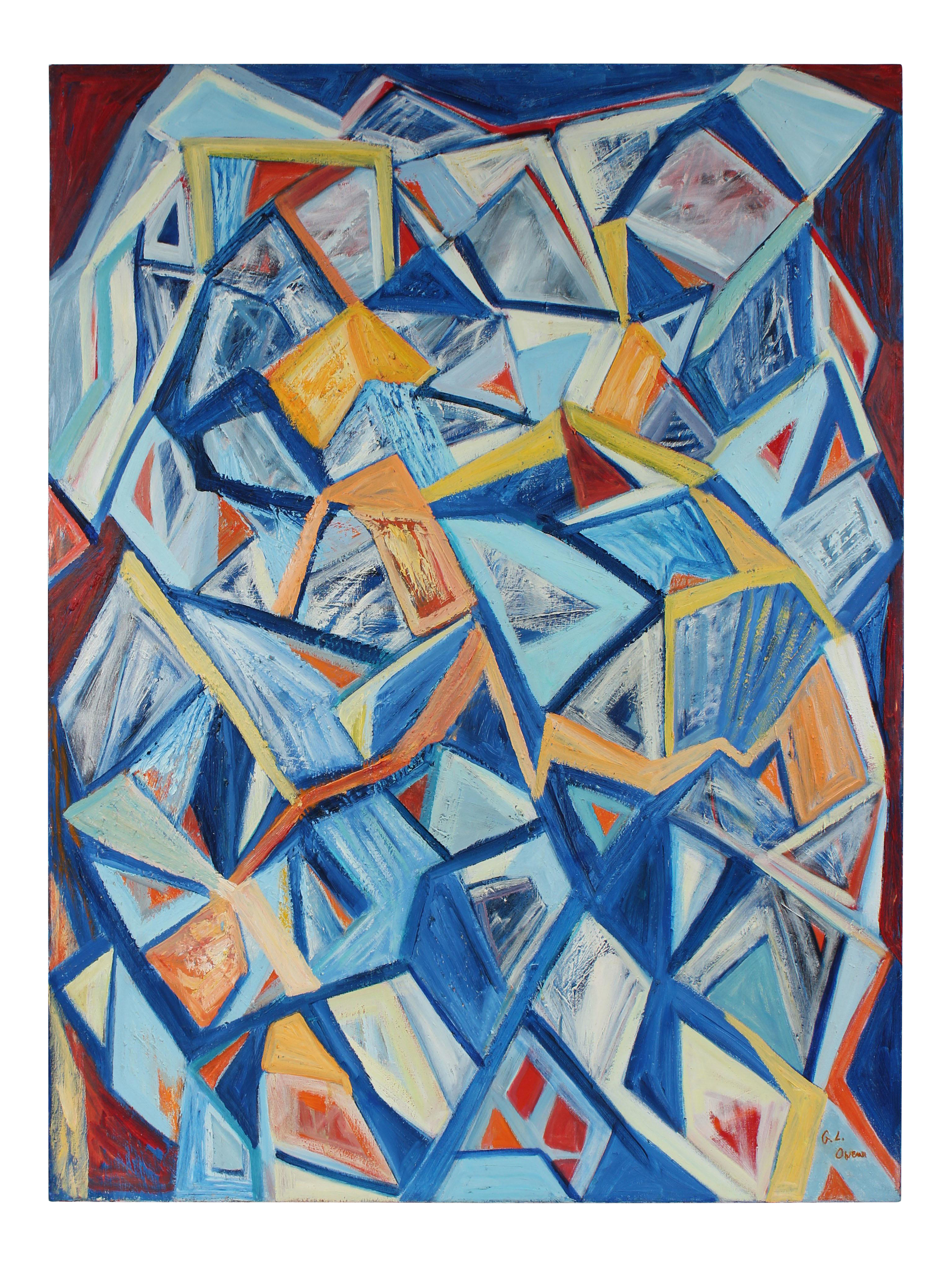 Cubism drawing abstract. September th large cubist
