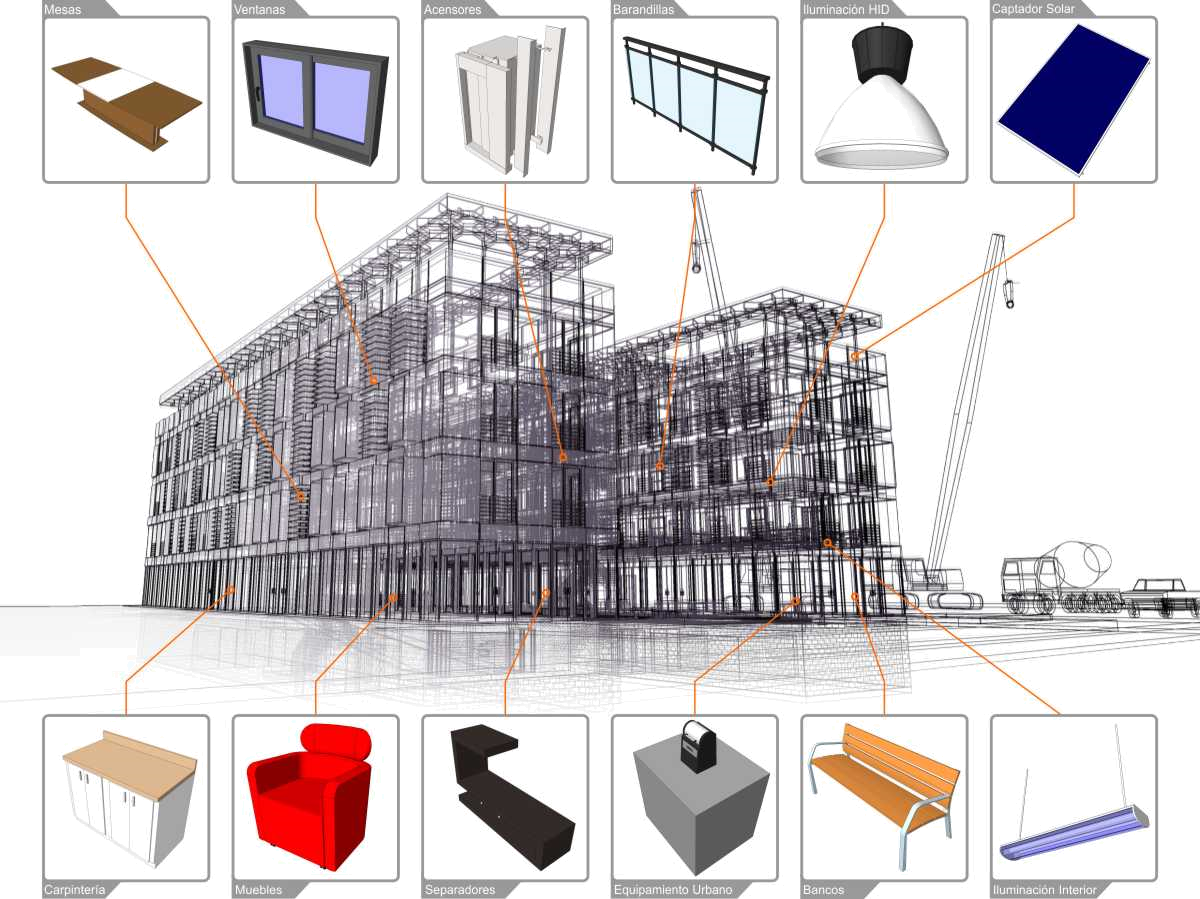 Cubism drawing building. Concepsysbim consulting cad and