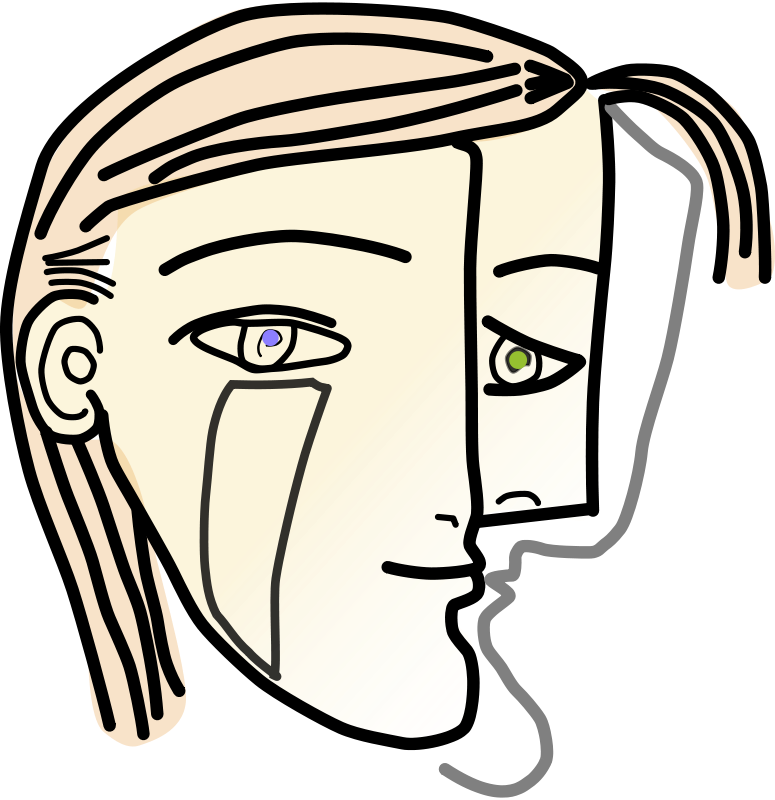 Cubism drawing eye. Encode clipart to base