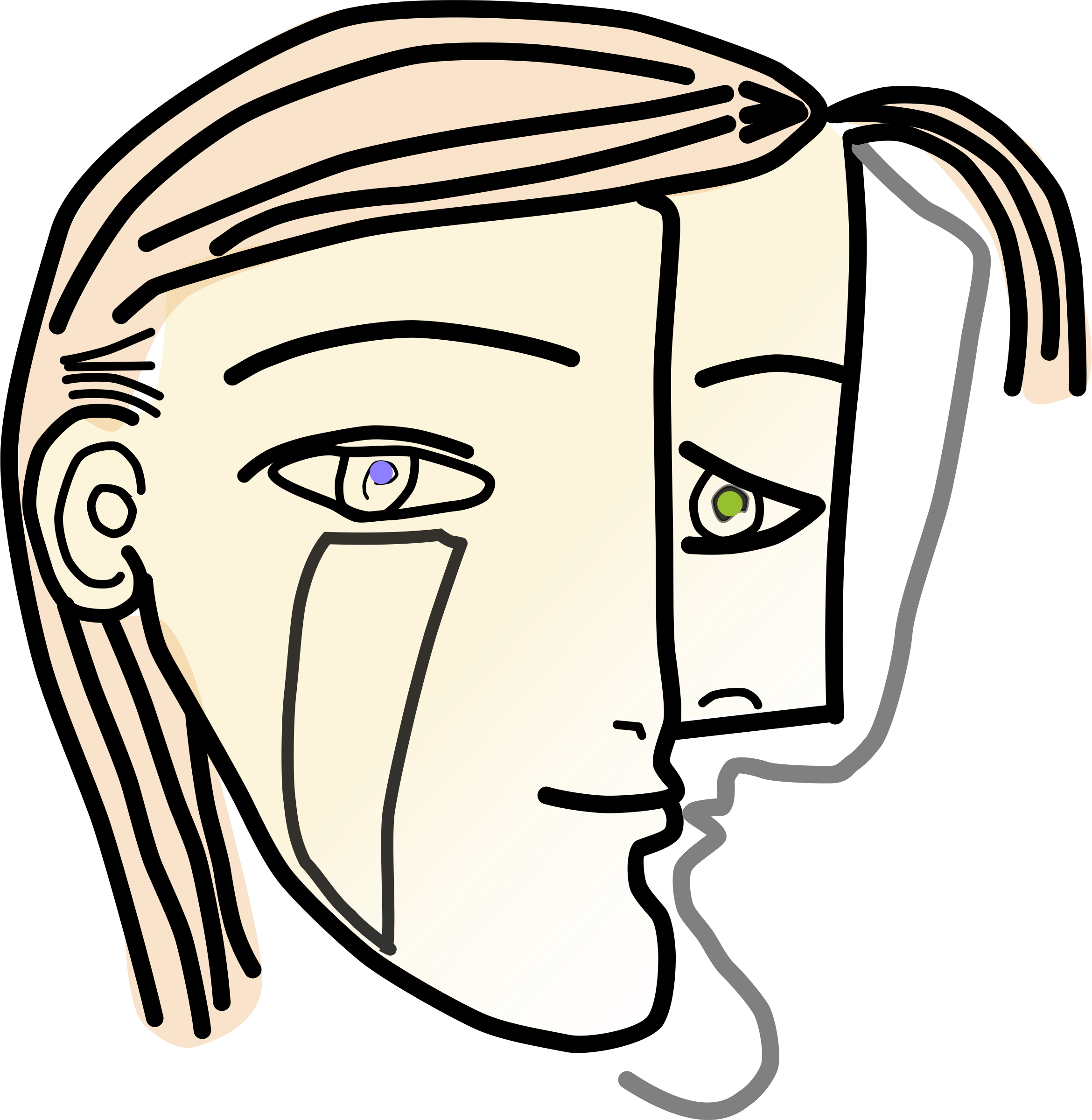 Cubism drawing face. Clipart cubist woman head