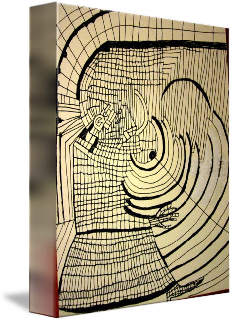 Cubism drawing line. By tomer tal