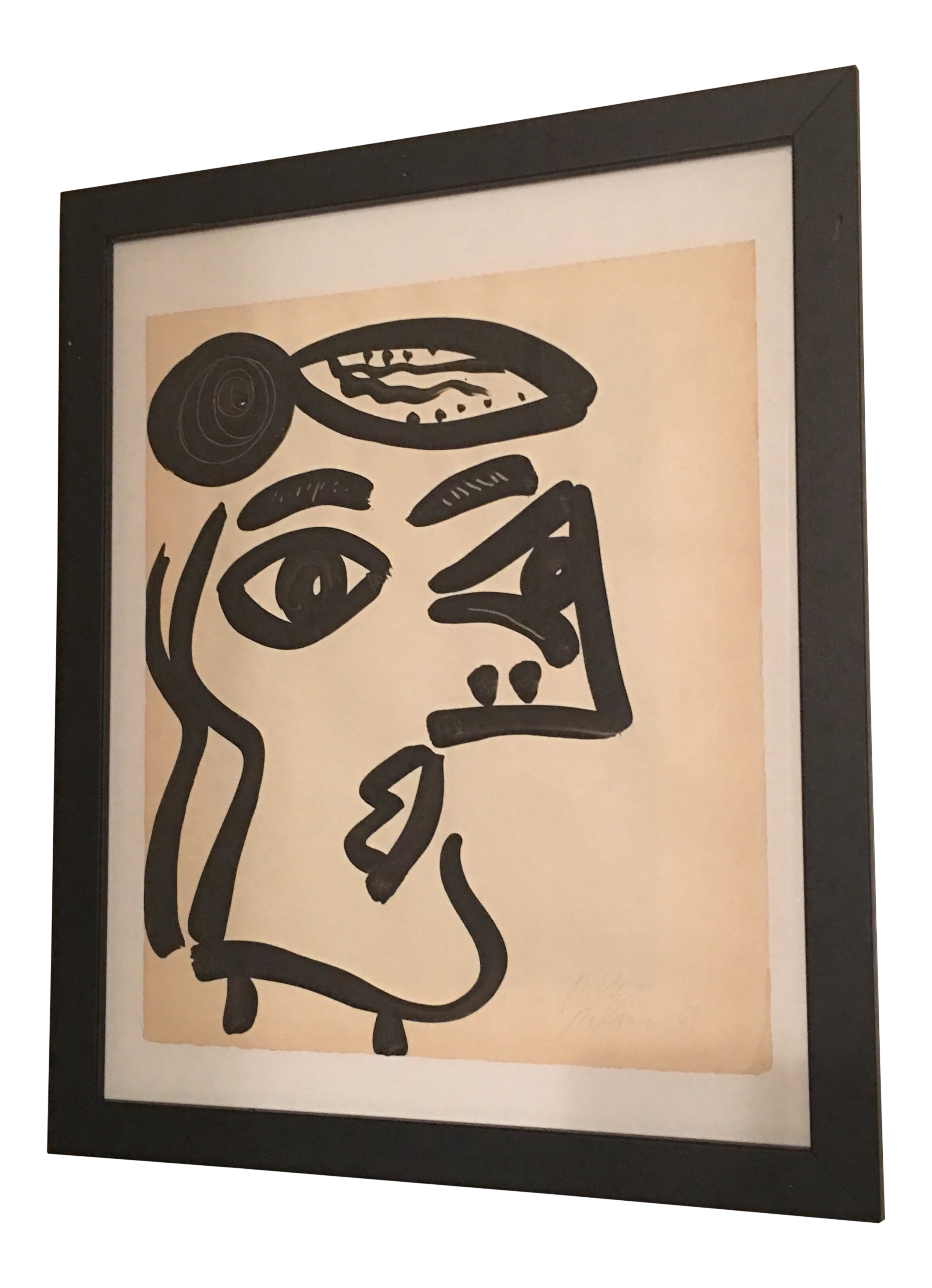 Dallas drawing abstract. Peter keil cubist face