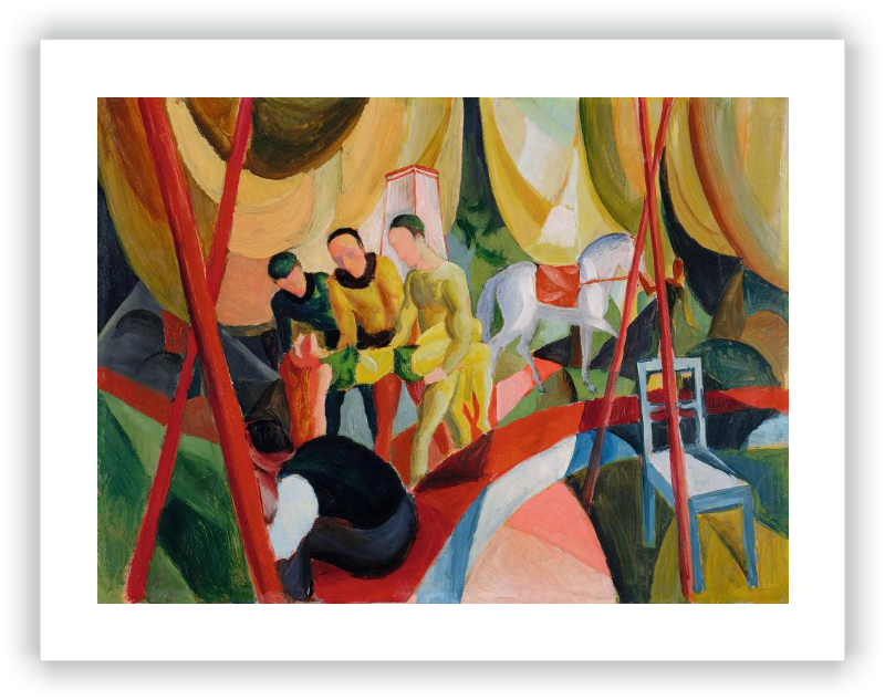 Expressionism drawing still life. Circus macke august museo