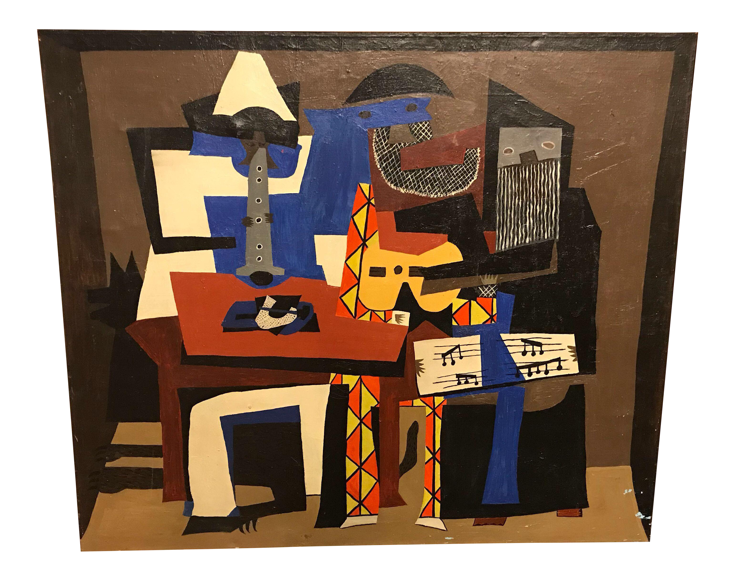 Cubism drawing student. Cubist after pablo picasso