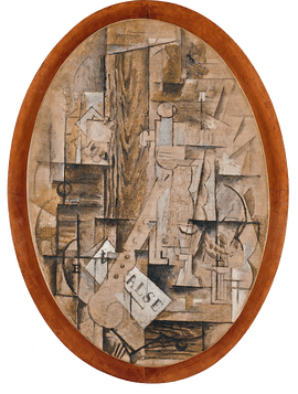 Georges braque. Cubism drawing vector royalty free