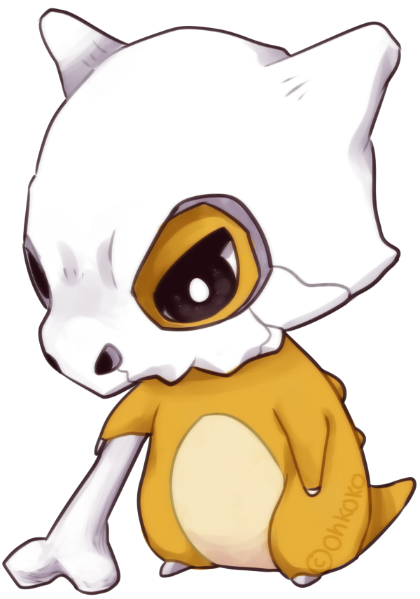 cubone drawing happy
