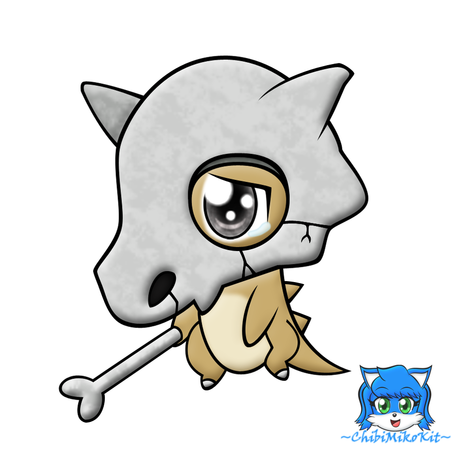 Cubone drawing poor. The lonely chibi by