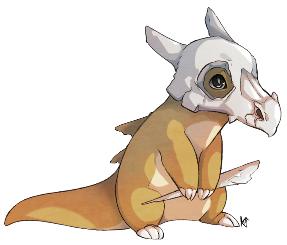 Cubone drawing poor. By susiron on deviantart