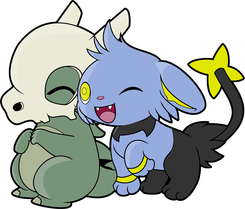 Cubone drawing easy. And shinx snuggle by