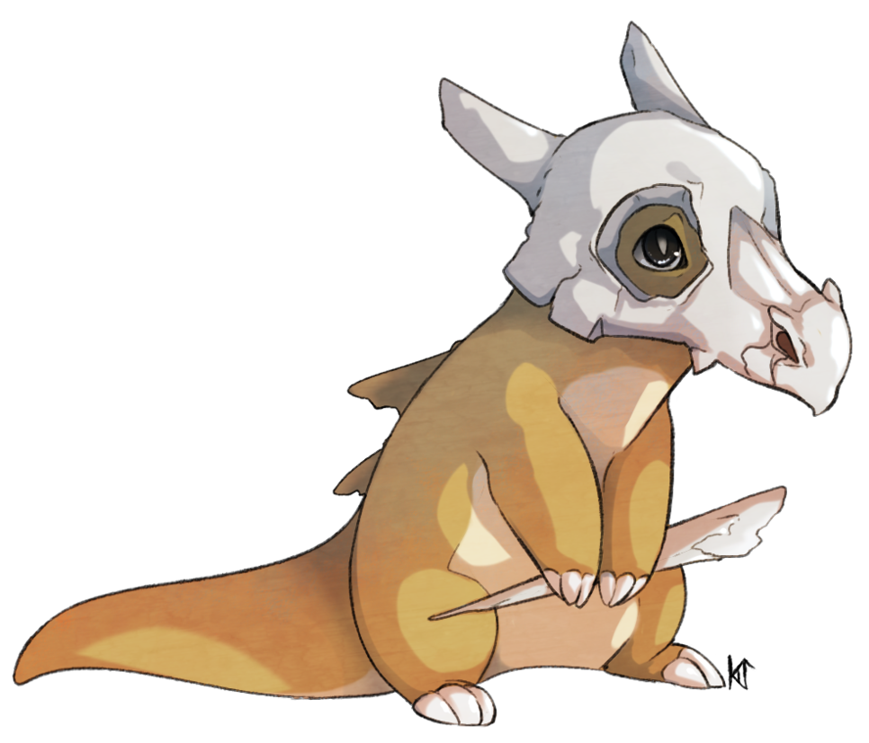 Cubone drawing realistic. By susiron on deviantart
