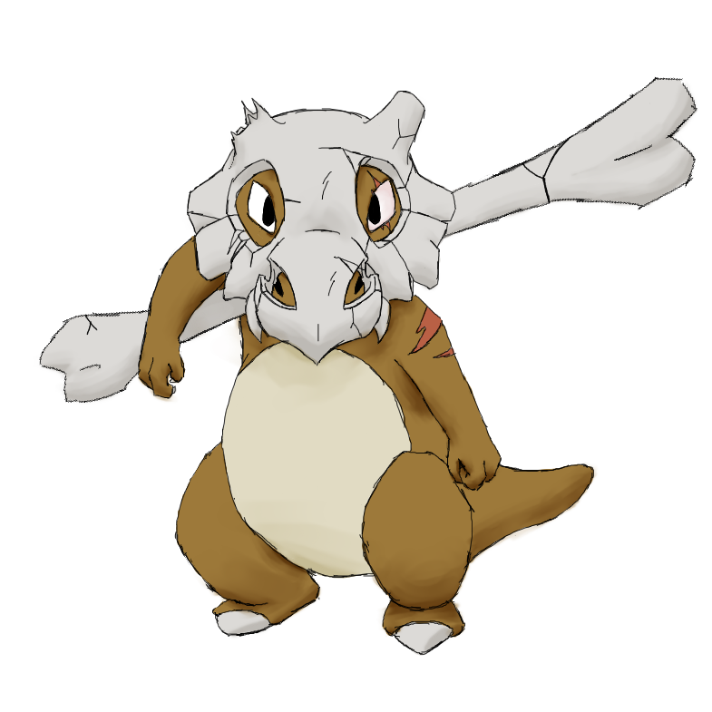 Cubone drawing realistic. Luca by orinos on