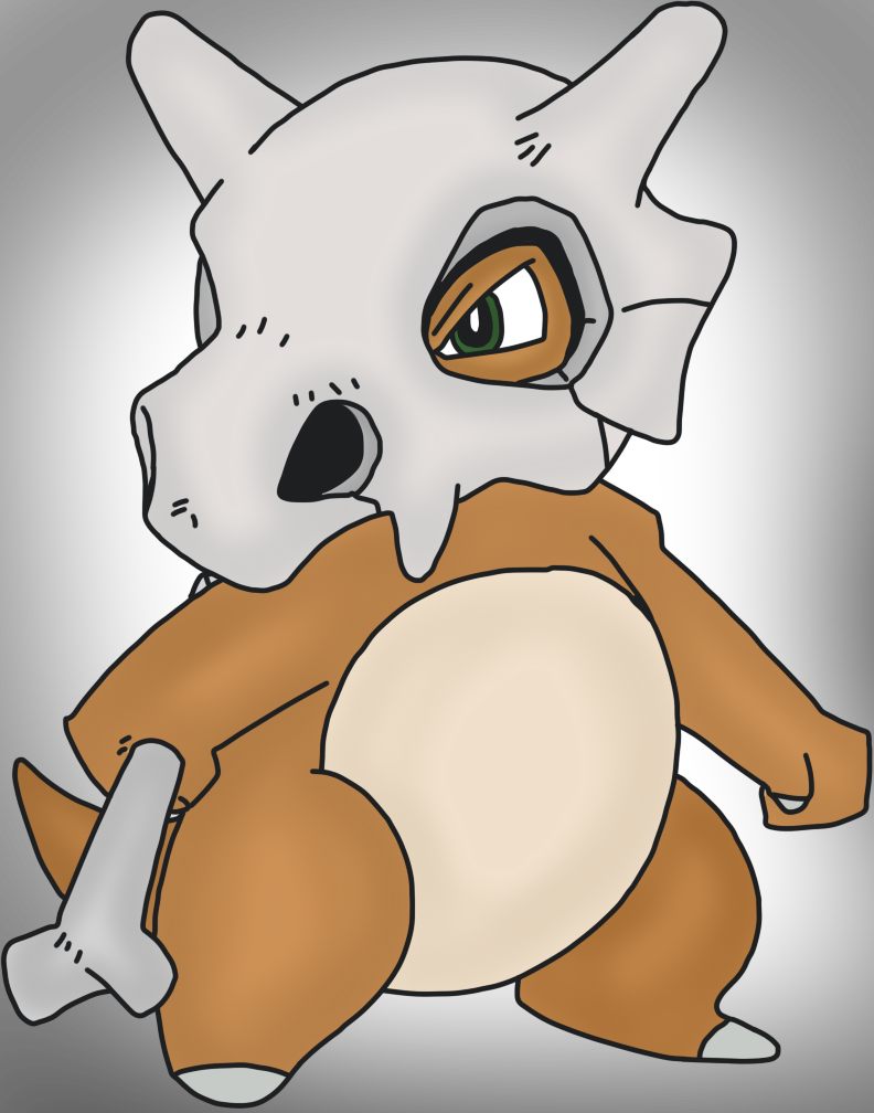 Cubone drawing. By mrsouthbay on deviantart