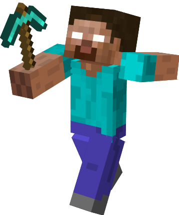 Herobrine transparent hero. Download minecraft png hq