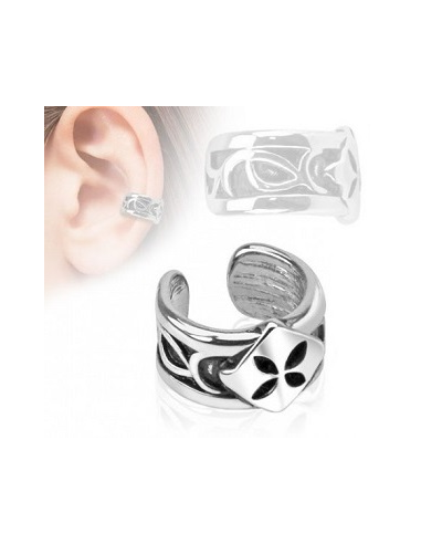 Fake piercing cartilage ear. Cuff clip image transparent library
