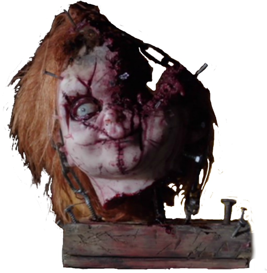 Cult of chucky png. Head by whitej on