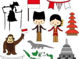 Culture clipart. From indonesia with love