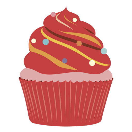 Cup cake png. Red velvet cupcake illustration