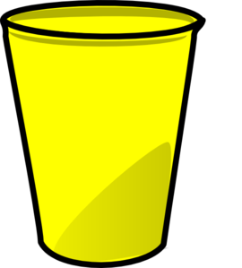 Cup clipart. Yellow clip art at