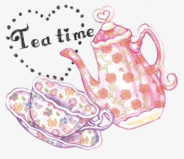 Tea set png image. Cup clipart english teacup banner free download